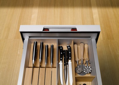 siematic pure,  kitchen s1 - detail drawer equipment